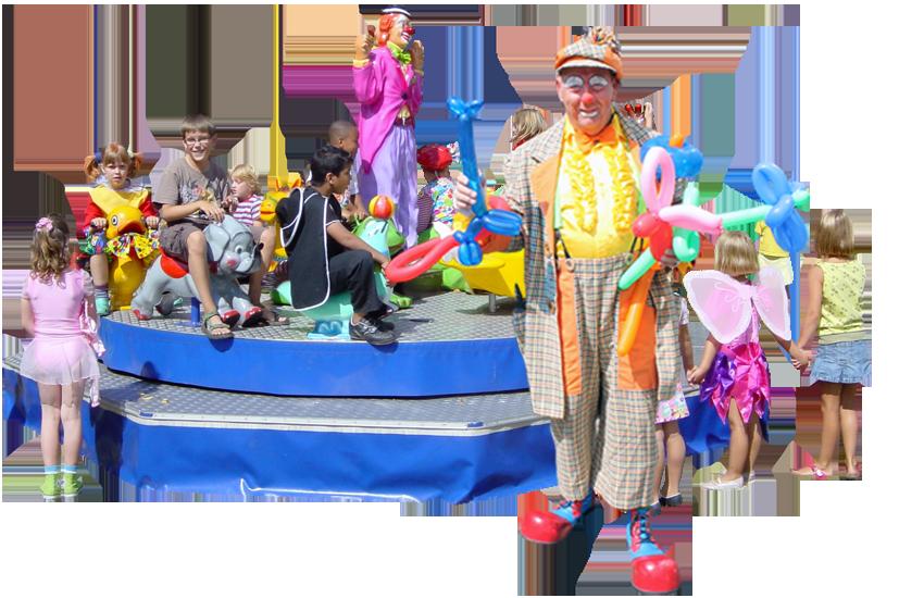 Gespecialiseerd in het verhuren en amuseren met kinderattracties. De voorkeur van dit bedrijf gaat uit naar het verhuren van combinatie attracties. Zoals het verhuren van een draaimolen met daarbij een suikerspin op een popcornmachine.