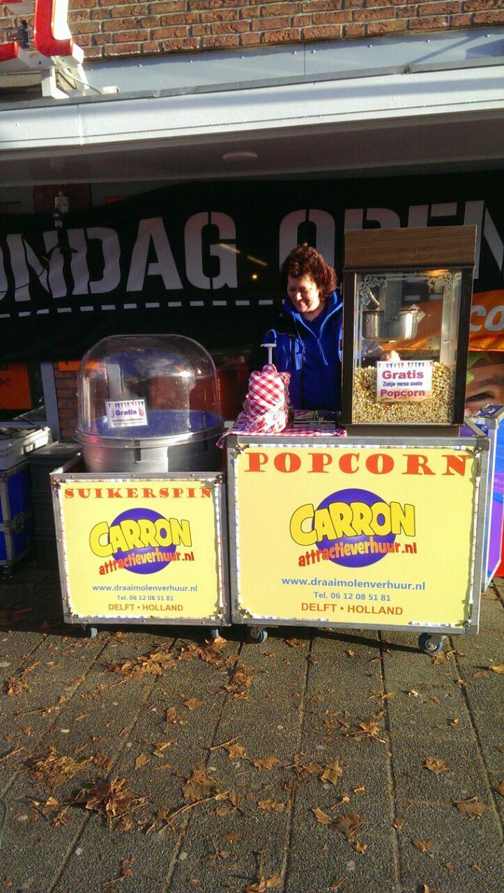 suikerspin of popcornmachine huren